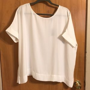 NWT The Limited | White short sleeve shirt